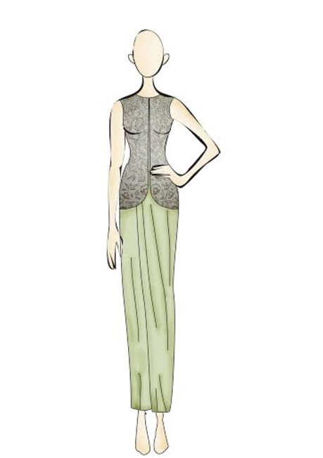 A Sketch from Ridhi Mehra's SS collection.