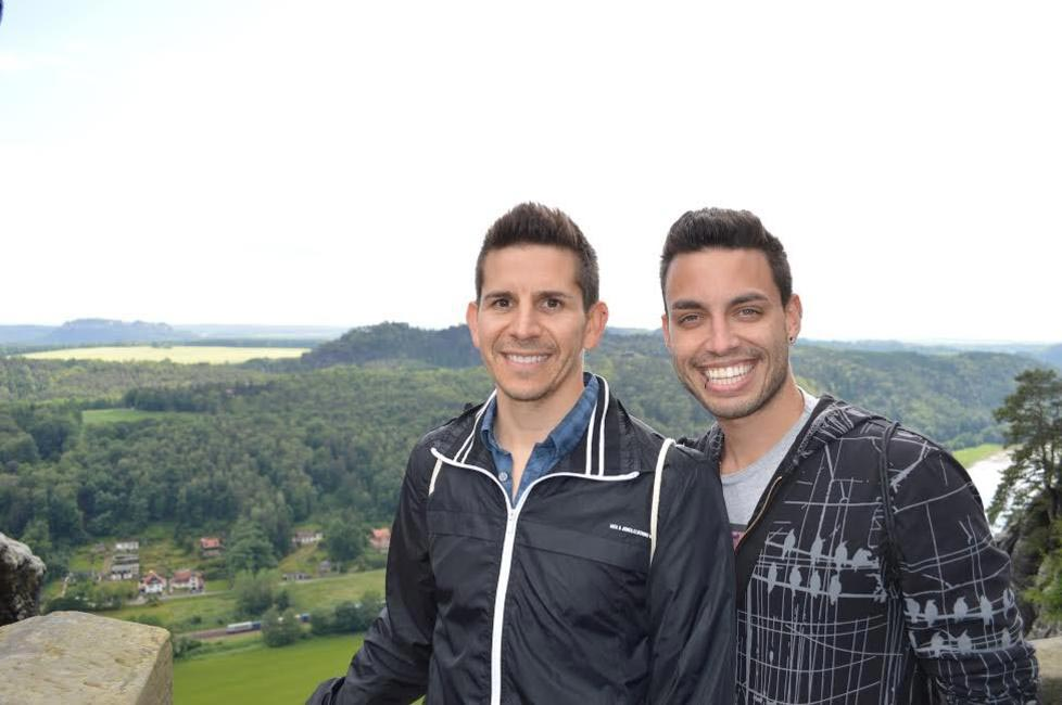 Auston (left) and David (right) in Saxony, Germany