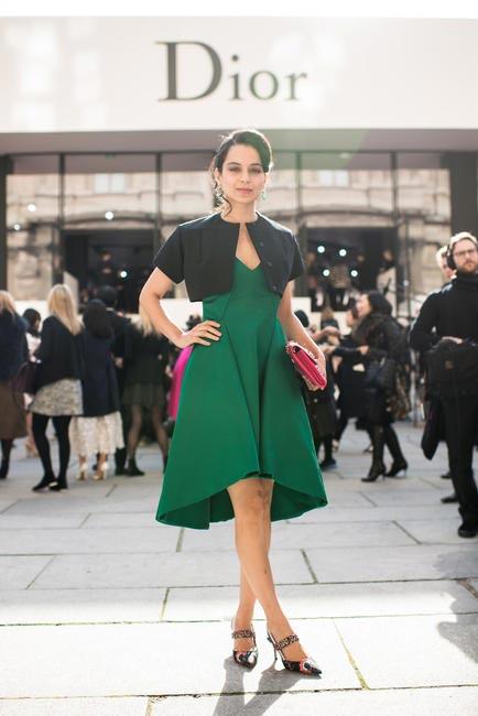 Kangana Ranaut at the Dior Paris Fashion Week show