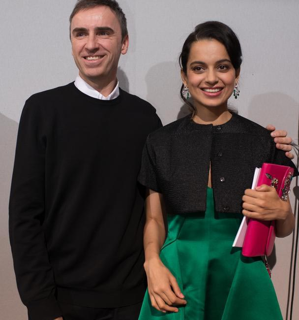 kangana Ranaut with Raf Simons, Artistic Director of Dior