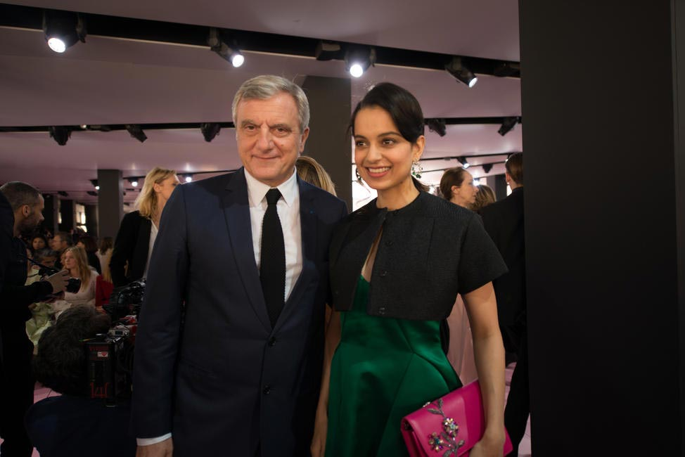 Kangana Ranaut with Sidney Toledano, President Of Christian Dior Couture