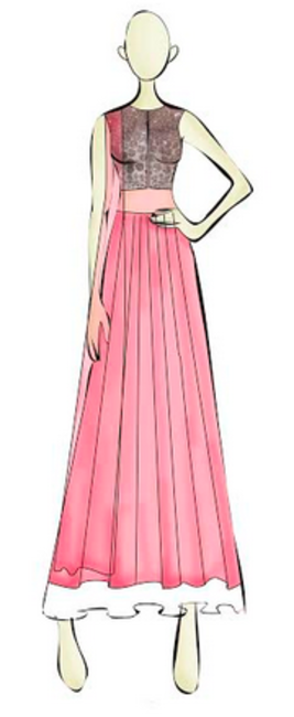 Sketch from Ridhi Mehra's SS collection.