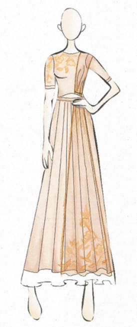 Sketch from Ridhi Mehra's SS collection