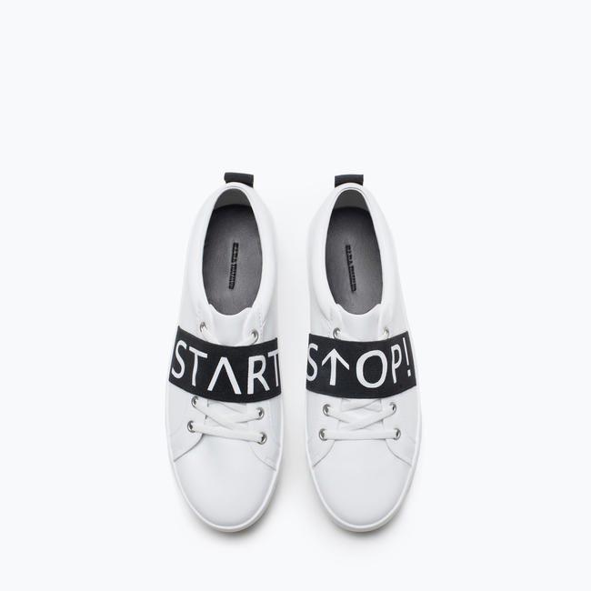 Slogan Sneakers - Zara, INR 2890