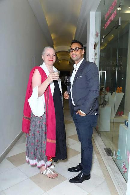 Caroline Young with Sunjay Guleria