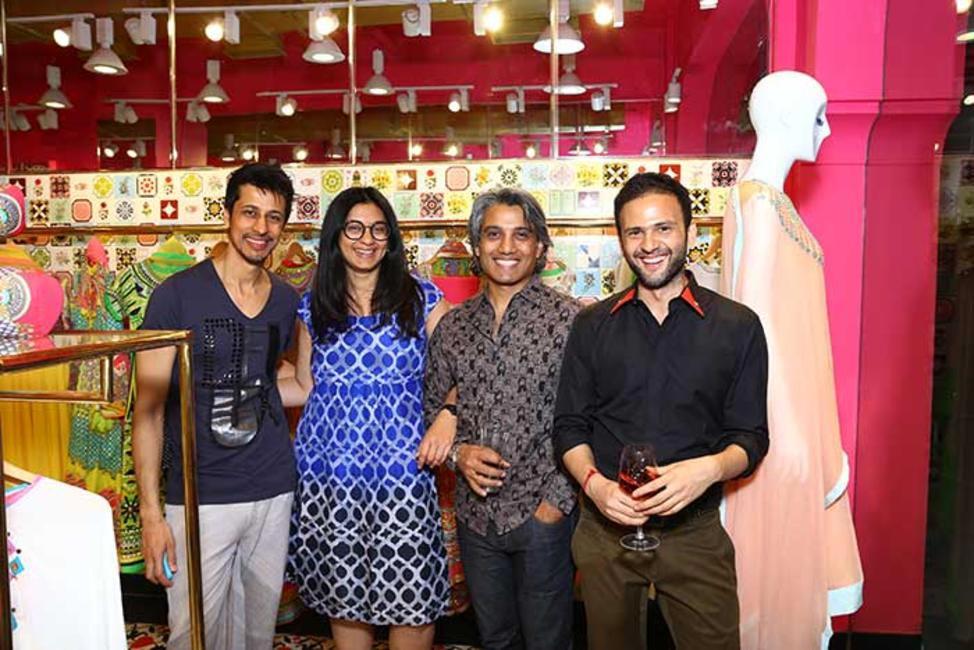 Gautam Seth with Dhruti and Himanshu Dogra and Prateek Jain