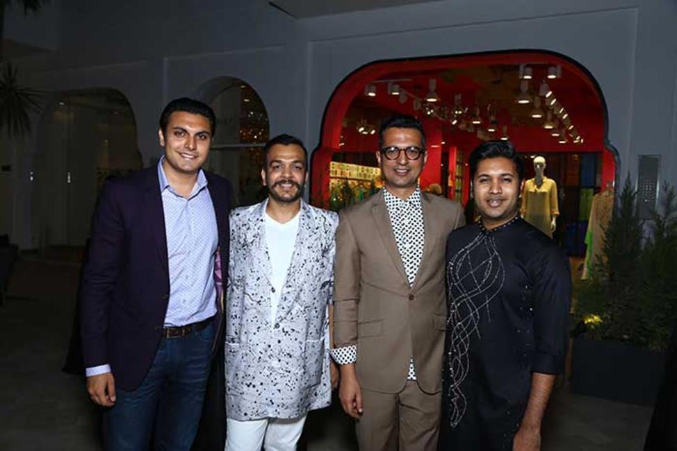 Samegh Batra, Amit Aggarwal, Amit Hansraj with Anirudh Birla