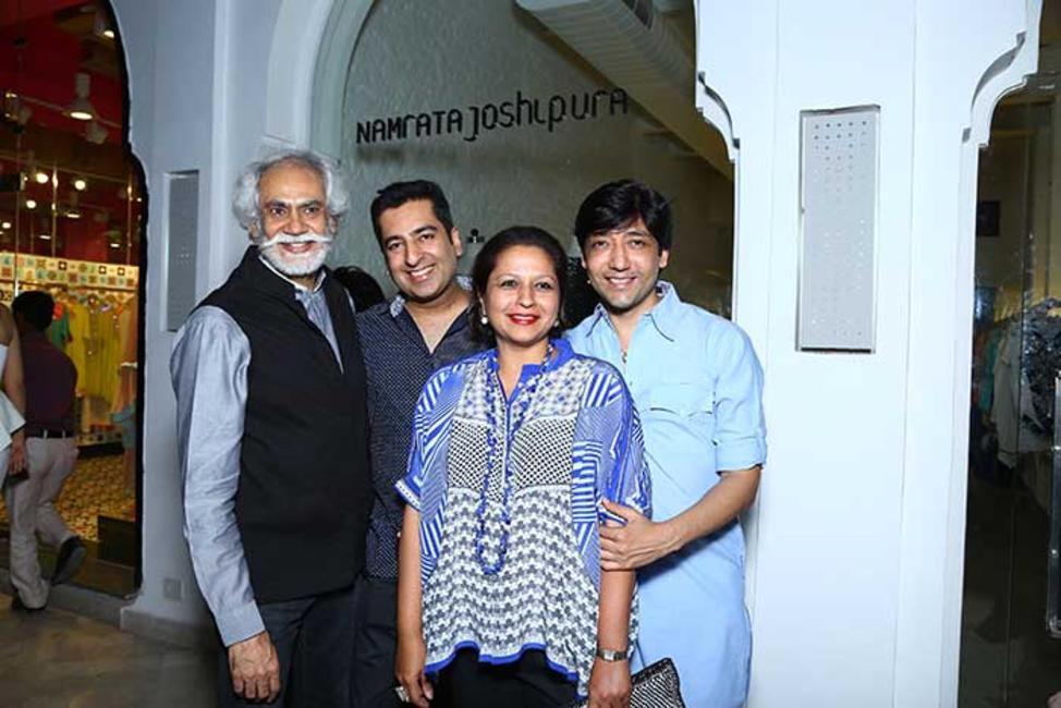 Sunil Sethi with Rahul Khanna, Priya Paul and Gautam Rakha