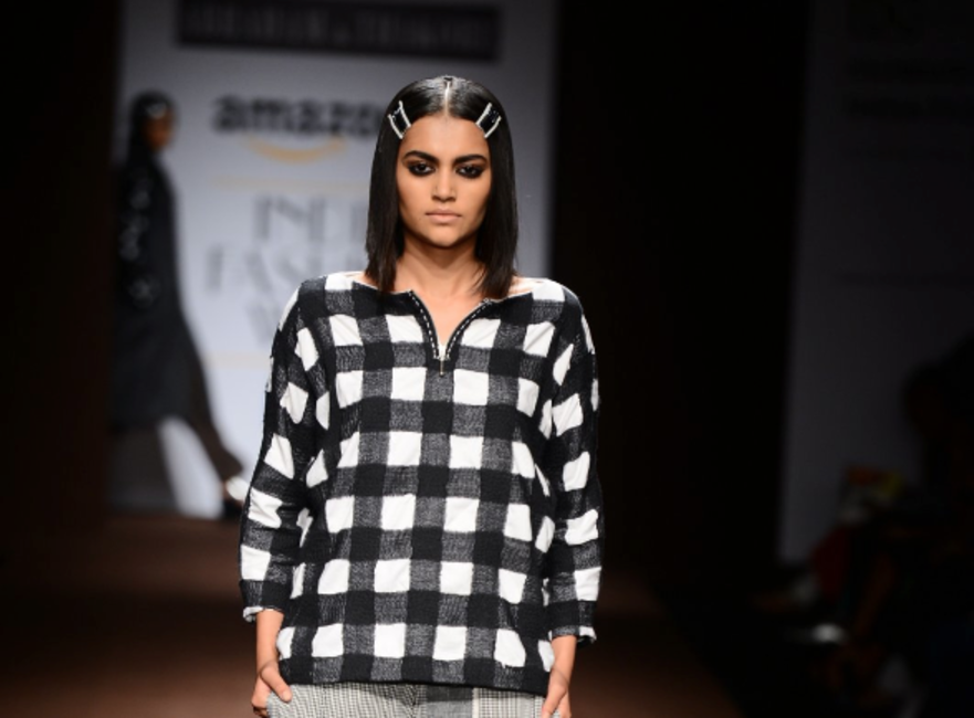 Bobby pins were trending at Abraham and Thakore's AW2015 show