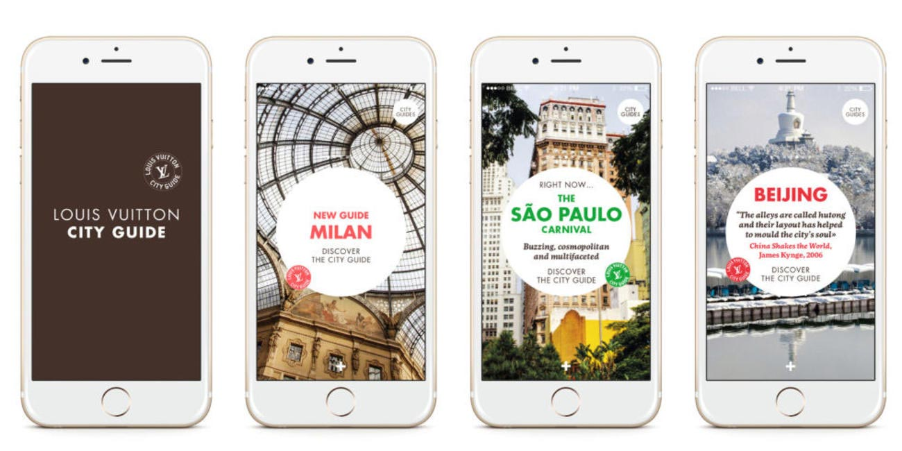 The Louis Vuitton City Guide App