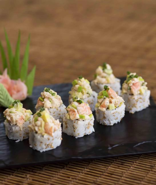 Spicy prawn & avocado maki