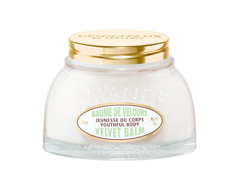 2. L�??Occitane Almond Velvet Balm Youthful Body, INR 2,690/200 ML