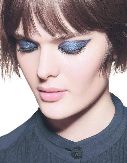 Model wearing the Chanel Blue Rhythm Collection