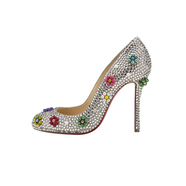 Crystal embellished pumps, Christian Louboutin, price on request