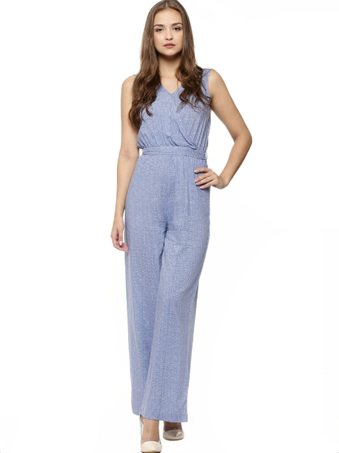 Aries - KOOVS Wrap Over Palazzo Tie Front Jumpsuit