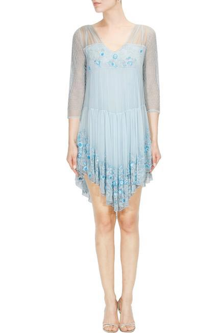 Pisces - Pernia's Pop up Not So Serious embroidered dress By Pallavi Mohan
