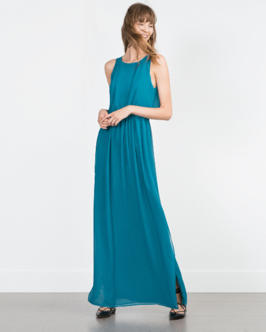 Virgo -  Long Zara Cape Dress