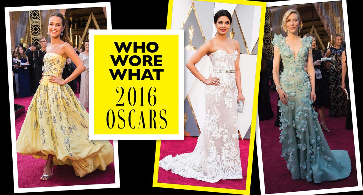 What your favourite celebs wore to the 2016 Oscars