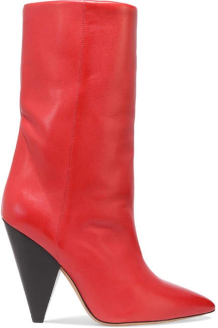 Leather boots, Isabel Marant at www.netaporter.com, Rs.71,000 approx