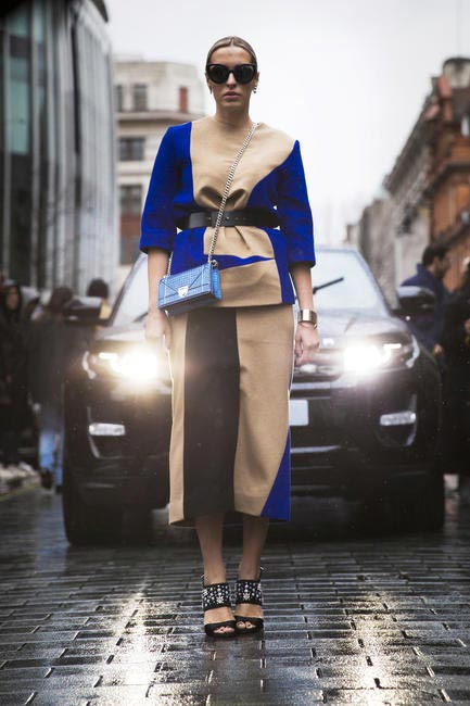 London street style FW16, nude colour-blocking