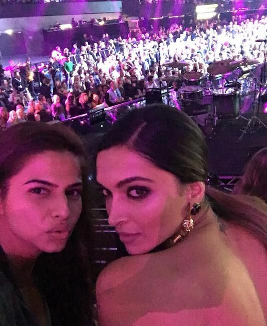Shaleena Nathani (Deepika's stylist), and Deepika Padukone