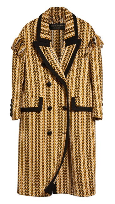 Woven coat, Burberry, price on request