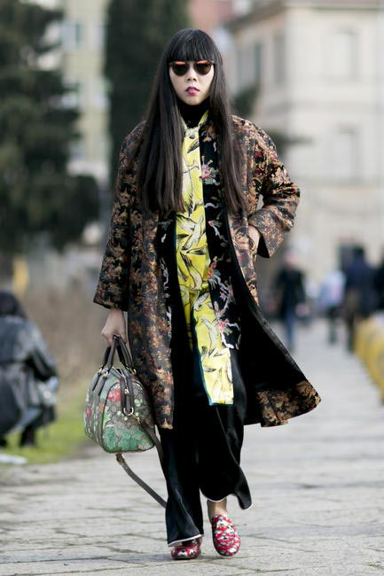 Blogger Susanna Lau of Style Bubble is giving us serious #printclash goals