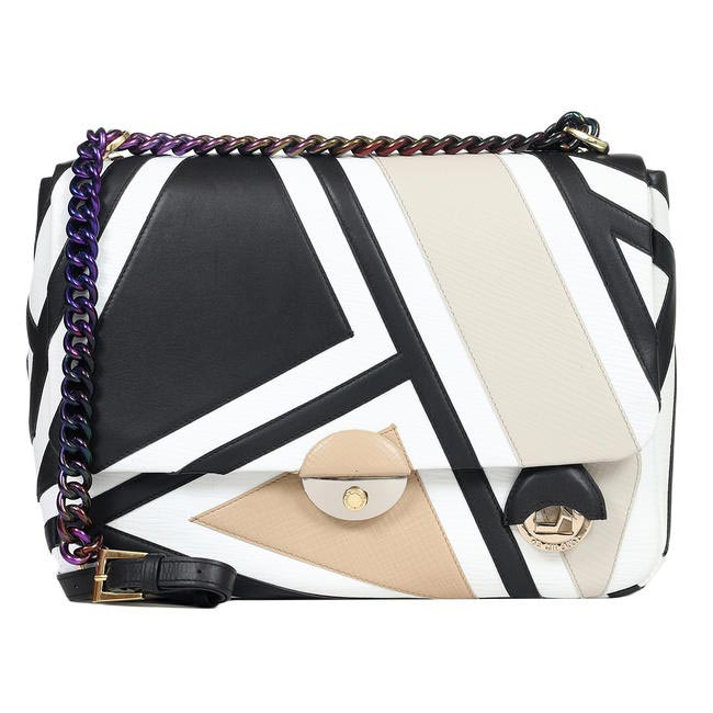 Geometric print bag, Da Milano, price on request