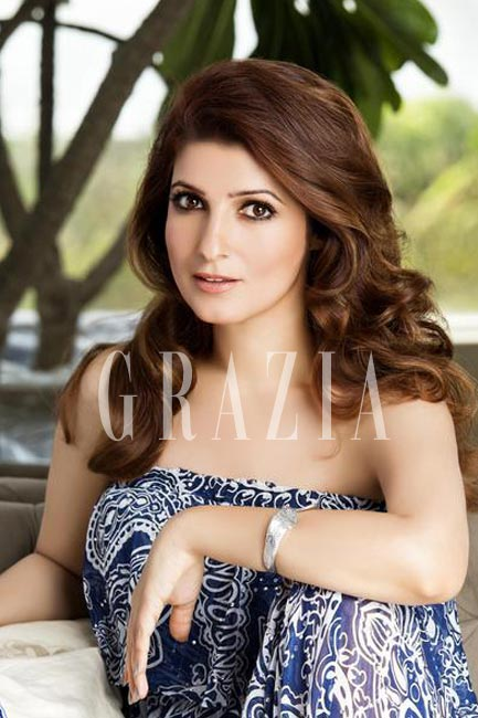 Twinkle Khanna lets her hair down