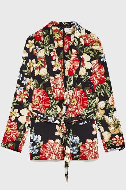 Floral printed blazer, Zara, INR3990
