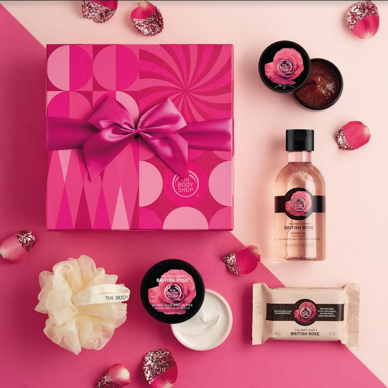 The British Rose gift set by The Body Shop