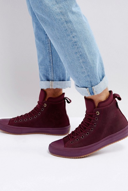 Converse Chuck Taylor All Star WP Sneaker Boots In Purple