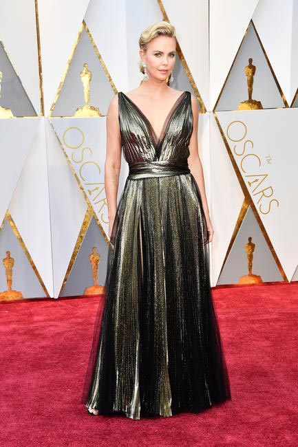 Charlize Theron in Dior and Chopard jewels