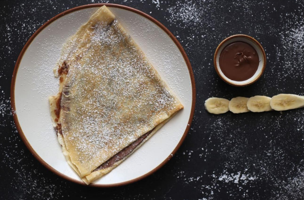 Chocolate and Banana Nutella Crepe