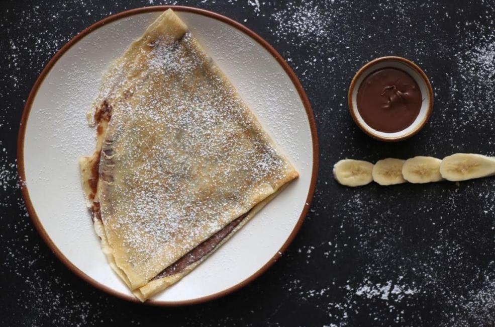Chocolate and Banana Nutella Crepe