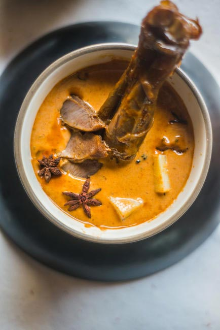 Massaman Curry with slow-cooked lamb shank