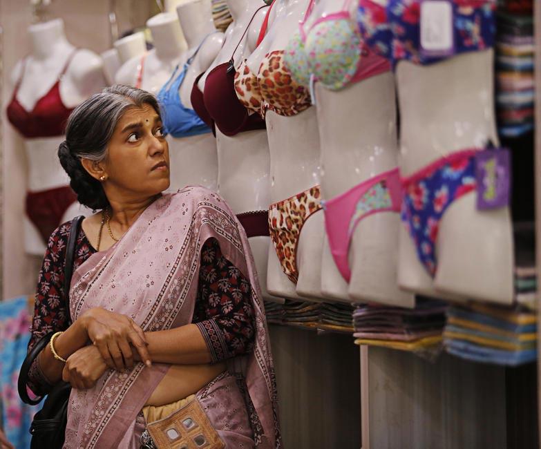 Ratna Patha Shah plays a widow who has a telephonic liason