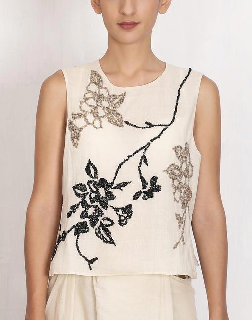 Beaded blouse, Bodice, INR7500