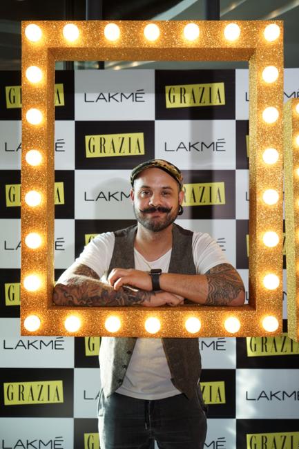 Daniel Bauer at the Grazia and Lakmé Tea Party