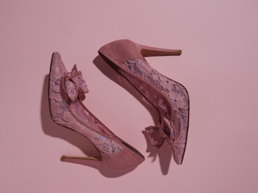 Lace heels, Dune, price on request