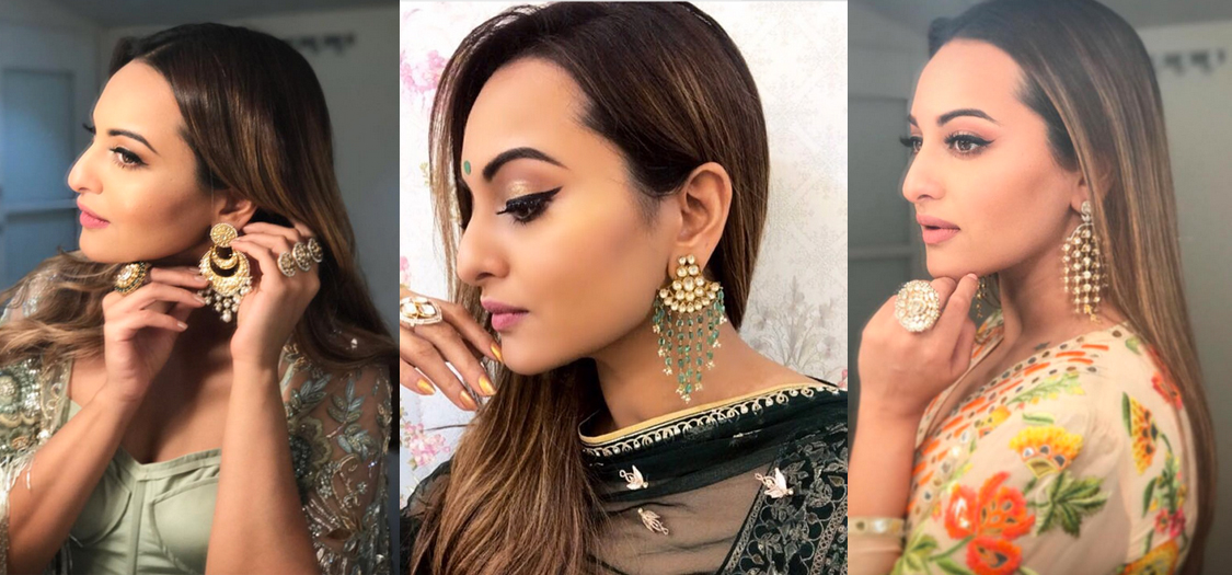 6 Times We Wanted To Steal Sonakshi Sinha's Statement Earrings | Grazia India