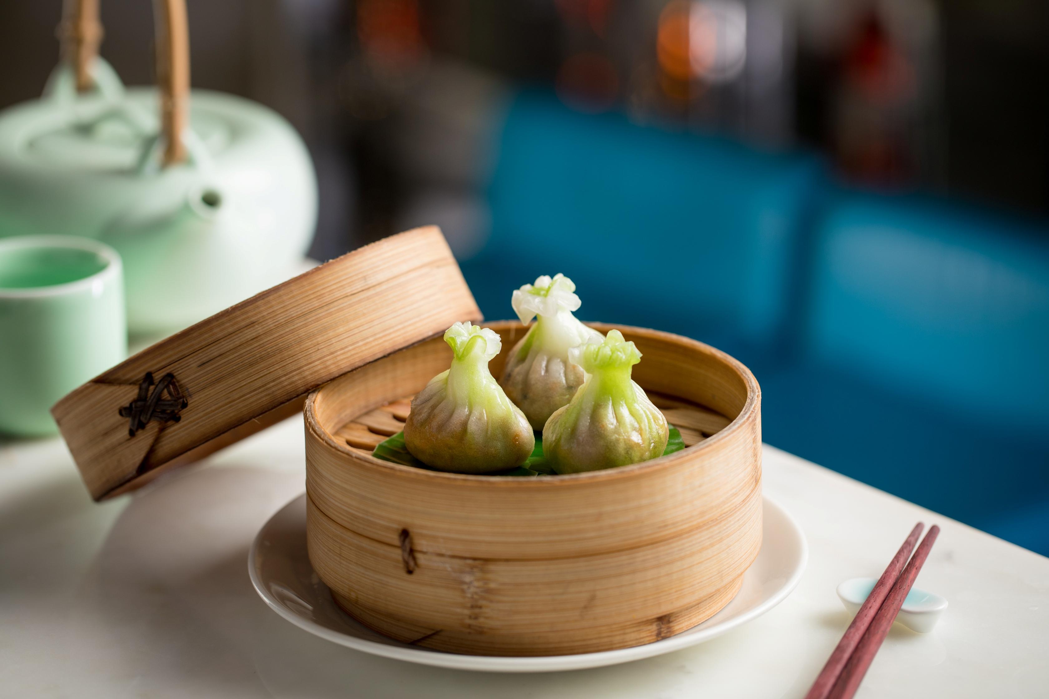 Chicken and water chestnut dumpling