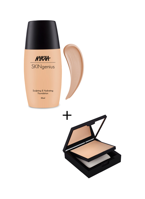 Almond Beige Foundation X Rose Beige Compact