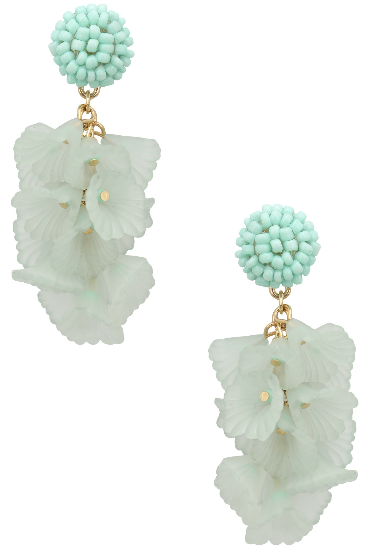 Stone and Fabric Earrings