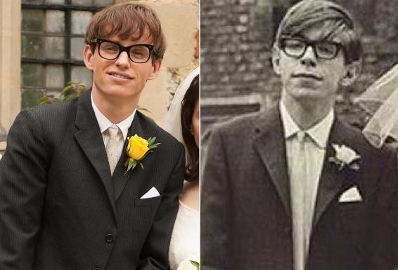 2. Eddie Redmayne as Stephen Hawking