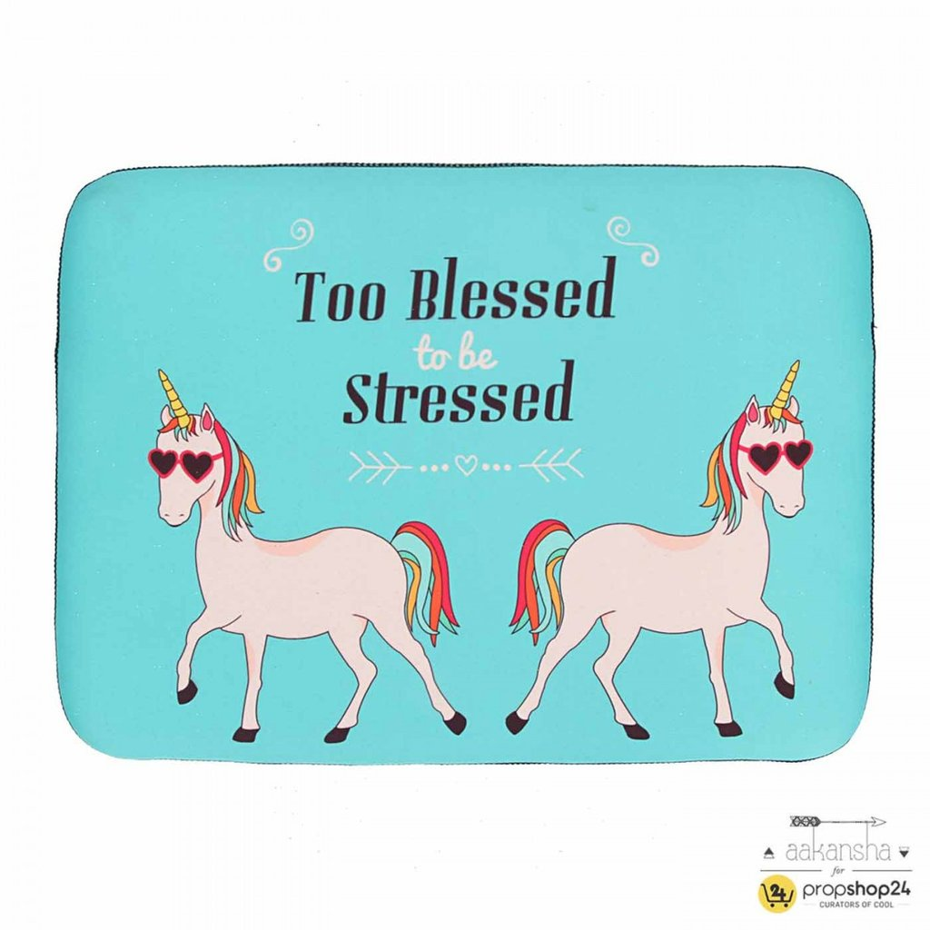 LAPTOP SLEEVE - TOO BLESSED TO BE STRESSED Rs. 1,190