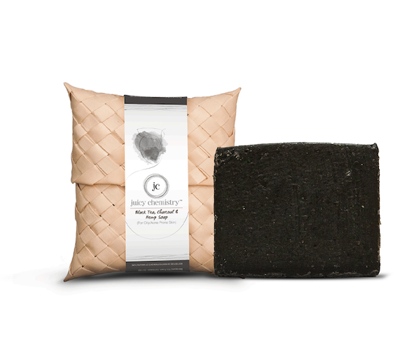 Juicy Chemistry Black Tea, Charcoal & Hemp soap