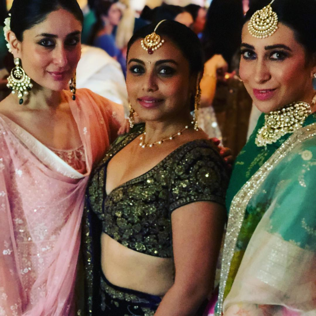 Kareena Kapoor, Rani Mukherjee and Karisma Kapoor