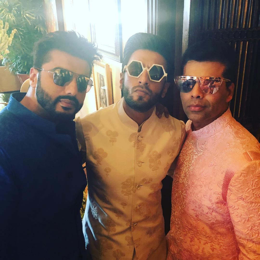 karan johar, arjun kapoor and Ranveer Singh