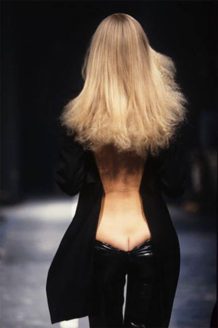 Alexander McQueen's famous 'bumster' pants